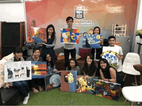 Art Jamming for birthdays and other parties