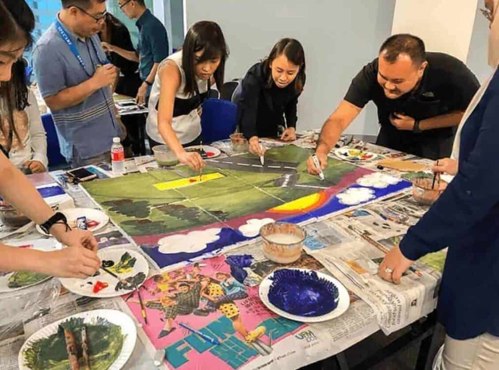 art jamming group cohesion